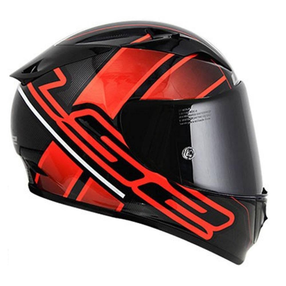 CAPACETE LS2 FF323 ION (PRETO/VERMELHO)  - Nova Centro Boutique Roupas para Motociclistas