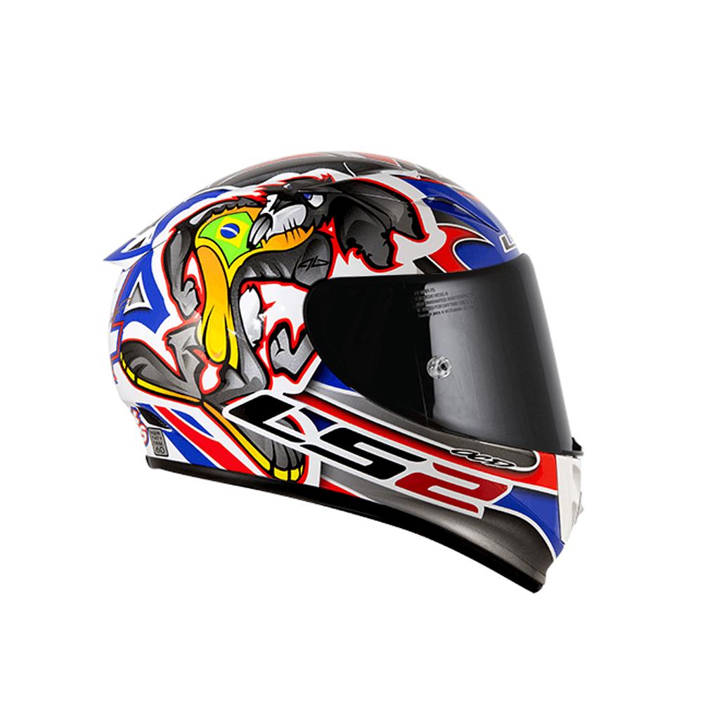 CAPACETE LS2 FF323 Réplica ALEX BARROS (FIBRA DE CARBONO/VIDRO/KEVLAR)  - Nova Centro Boutique Roupas para Motociclistas