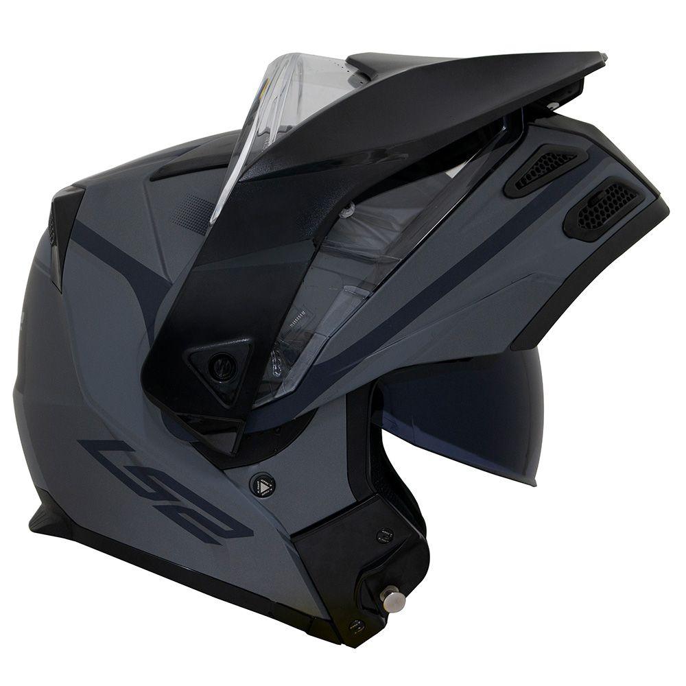 Capacete LS2 FF324 Metro Evo Era - Preto Fosco / Titanium - LANÇAMENTO  - Nova Centro Boutique Roupas para Motociclistas