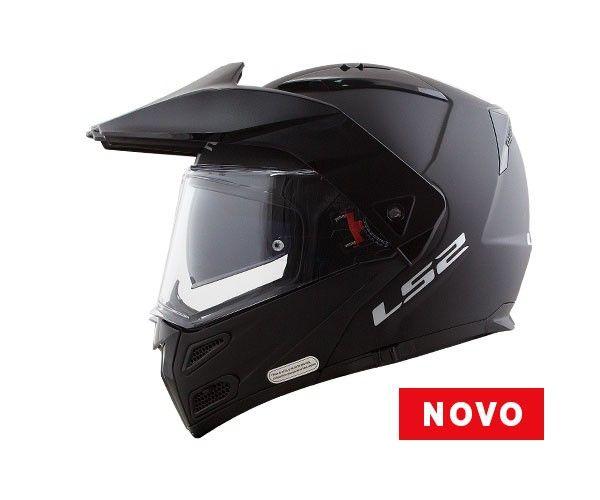 CAPACETE LS2 FF324 METRO EVO PRETO FOSCO - Oferta  - Nova Centro Boutique Roupas para Motociclistas