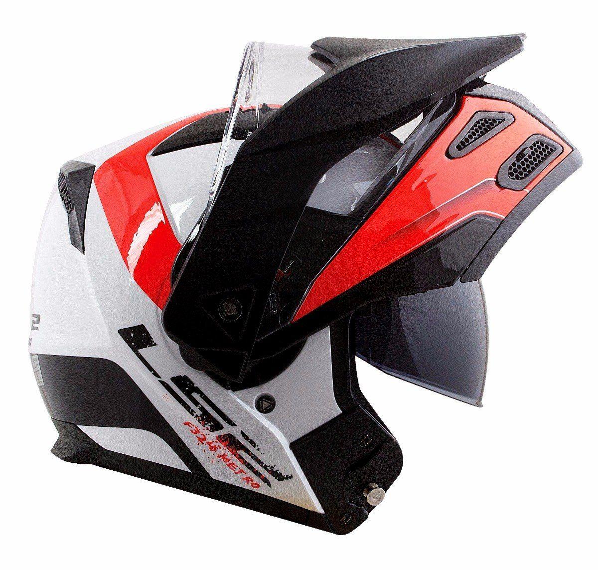 Capacete Ls2 FF324 Metro Evo Rapid White/Black/Red