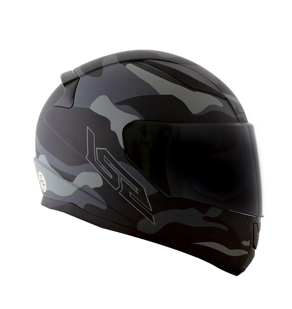 Capacete LS2 FF353 Rapid Army - Preto/Cinza  - Nova Centro Boutique Roupas para Motociclistas