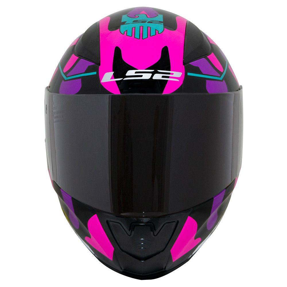 Capacete LS2 FF353 Rapid - Bravado - Branco / Rosa / Azul / Preto  - Nova Centro Boutique Roupas para Motociclistas