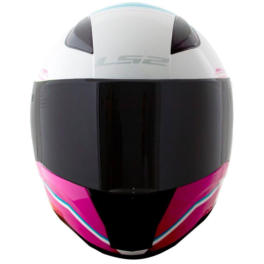 Capacete Ls2 FF353 Rapid Candie - Blue/Pink/White  - Nova Centro Boutique Roupas para Motociclistas