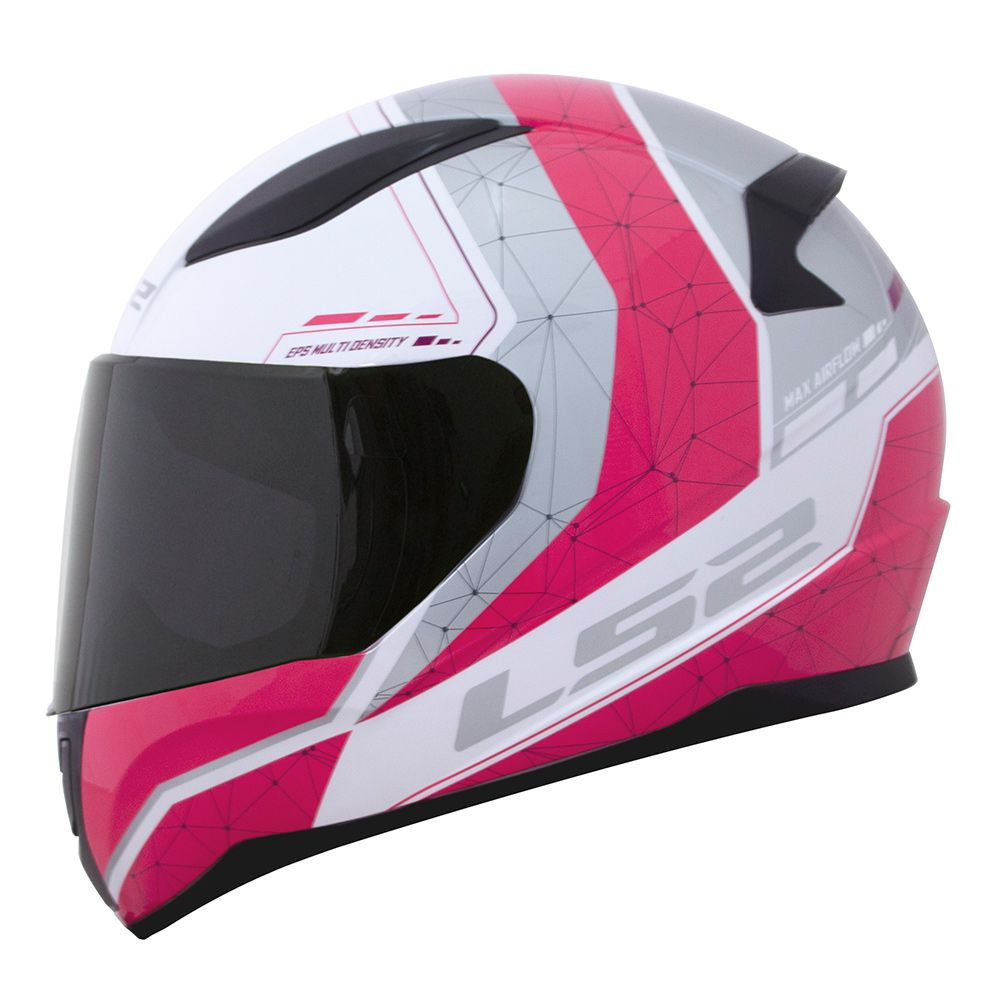 Capacete LS2 FF353 Rapid - Candie - Branco / Rosa / Cinza