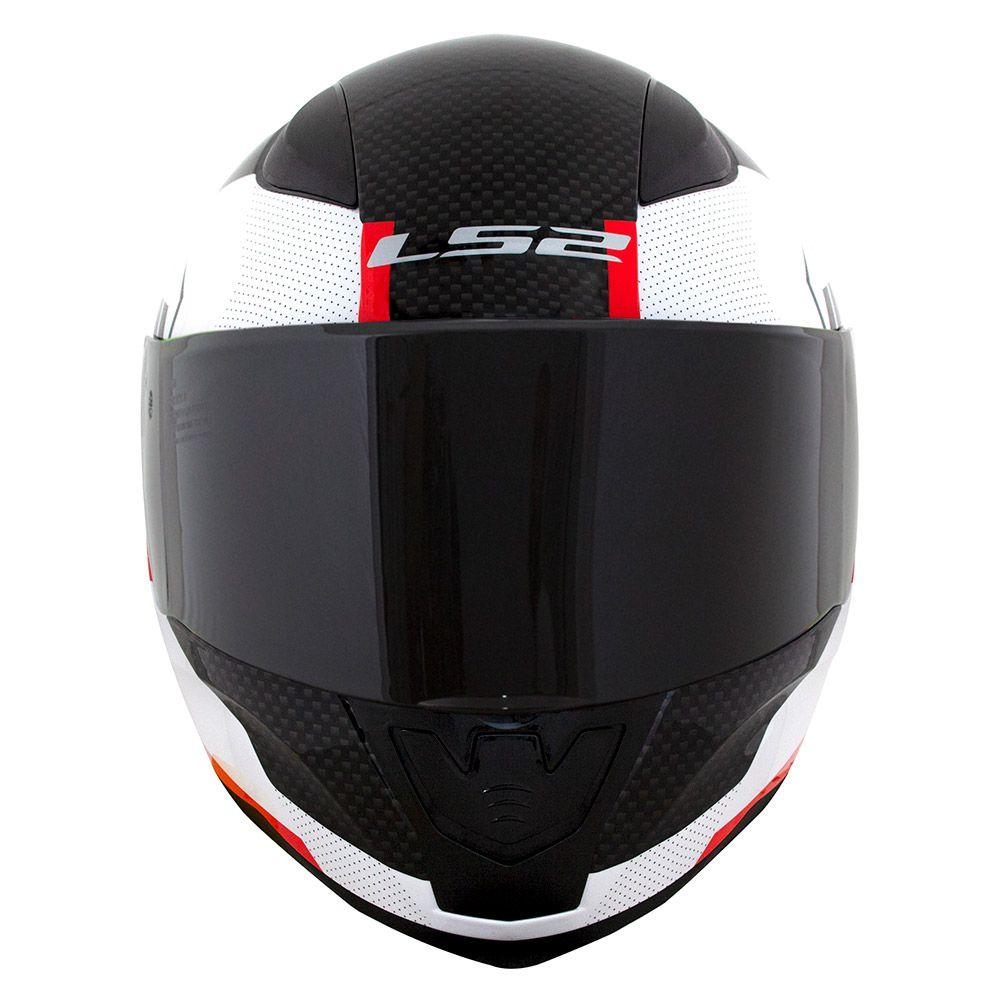 Capacete LS2 FF353 Rapid - Ghost - Branco / Preto / Vermelho  - Nova Centro Boutique Roupas para Motociclistas