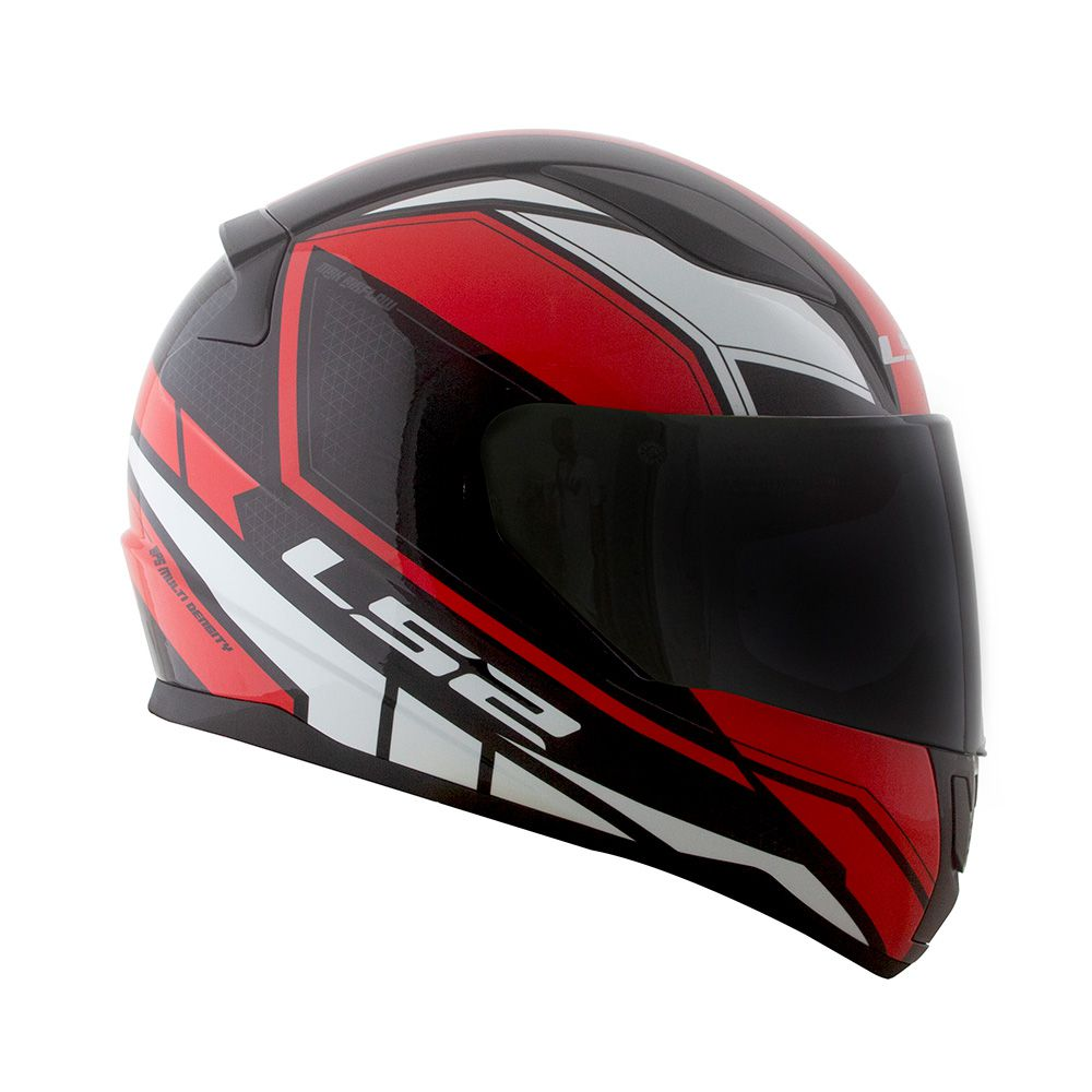Capacete LS2 FF353 Rapid Infinity - Vermelho/Preto/Branco  - Nova Centro Boutique Roupas para Motociclistas