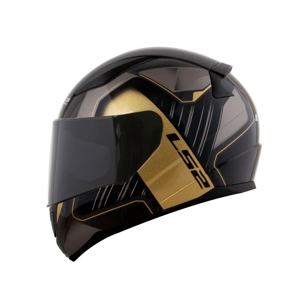 Capacete LS2 FF353 Rapid Medal - Black Grey White   - Nova Centro Boutique Roupas para Motociclistas