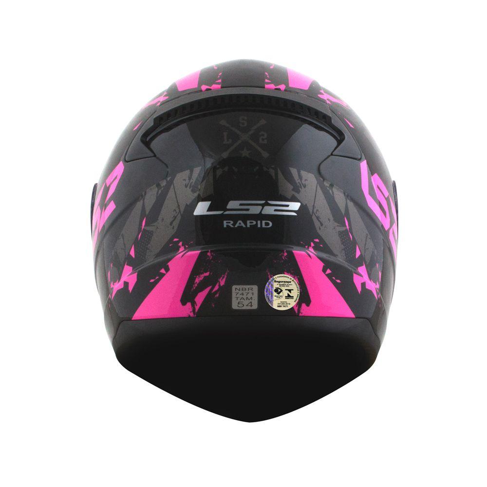 Capacete LS2 FF353 Rapid Palimnesis - Rosa  - Nova Centro Boutique Roupas para Motociclistas