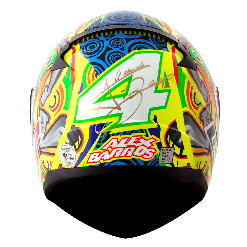 Capacete LS2 FF353 Rapid Réplica Alex Barros (Amarelo)  - Nova Centro Boutique Roupas para Motociclistas