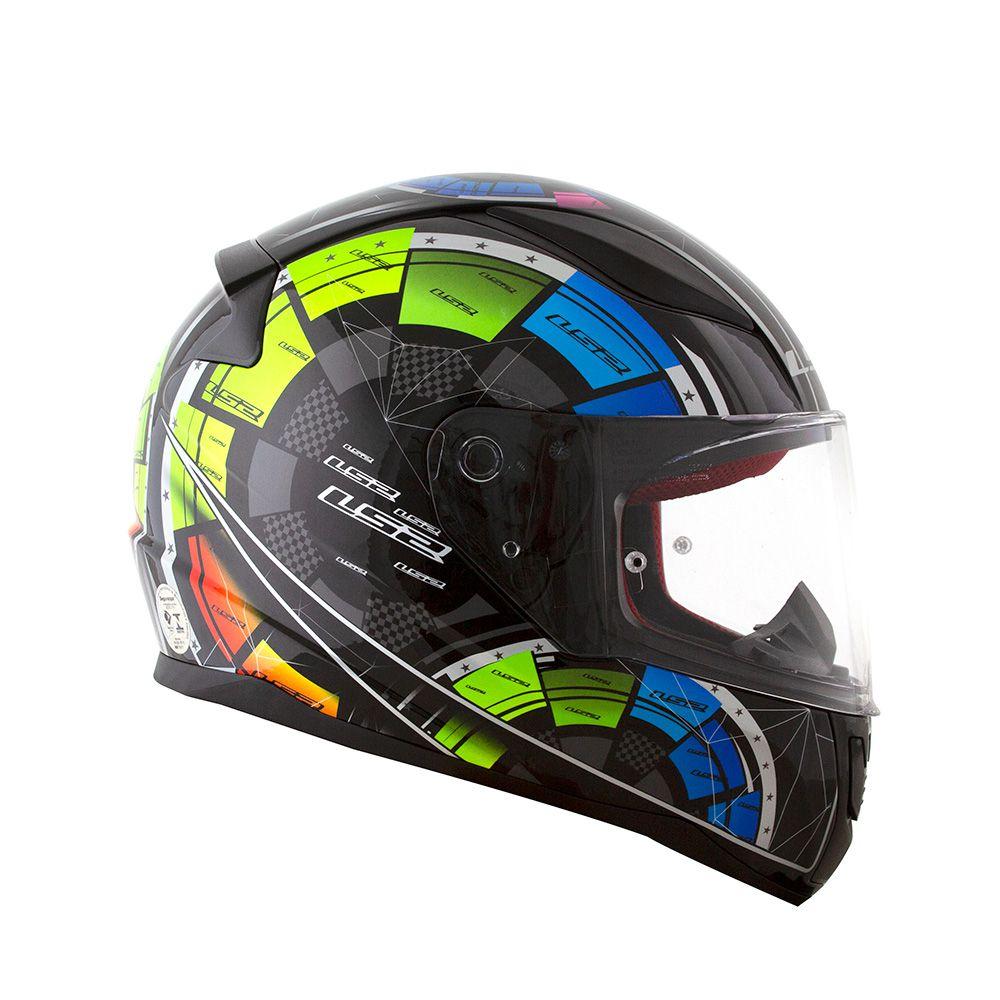 Capacete LS2 FF353 Rapid Tech - Preto  - Nova Centro Boutique Roupas para Motociclistas