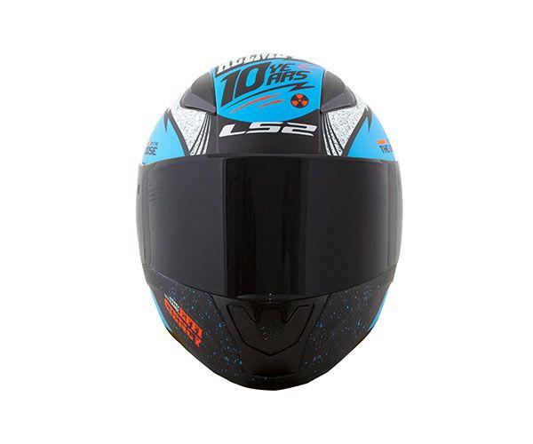 Capacete Ls2 FF353 Rapid Thunder - Azul  - Nova Centro Boutique Roupas para Motociclistas