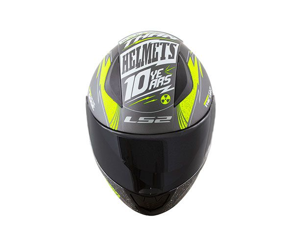 Capacete Ls2 FF353 Rapid Thunder - Cinza/Verde  - Nova Centro Boutique Roupas para Motociclistas