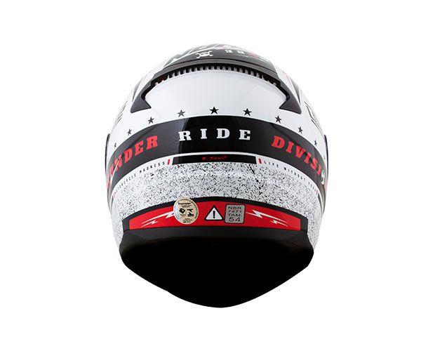 Capacete Ls2 FF353 Rapid Thunder - Preto/Branco/Vermelho  - Nova Centro Boutique Roupas para Motociclistas