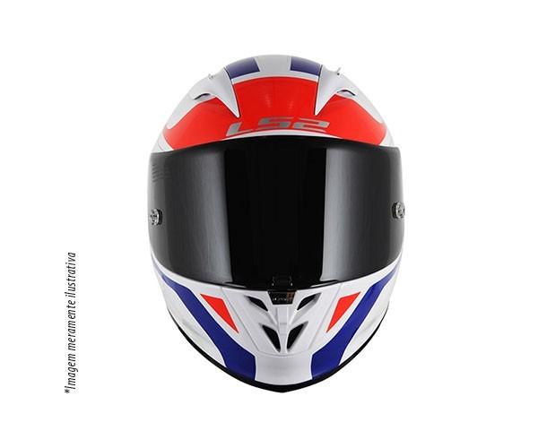 Capacete LS2 FF323 Arrow R Burner Branco / Azul  - Nova Centro Boutique Roupas para Motociclistas