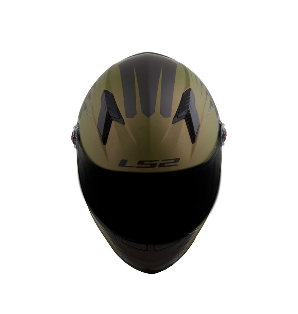 Capacete LS2 FF358 Air Fighter Verde Militar  - Nova Centro Boutique Roupas para Motociclistas