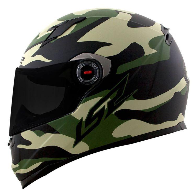 Capacete LS2 FF358 Army (Verde)  - Nova Centro Boutique Roupas para Motociclistas