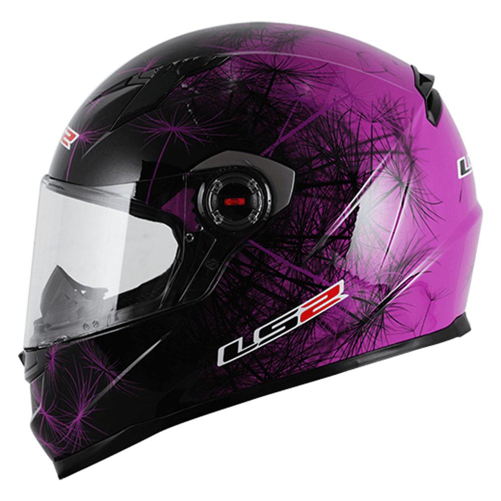 Capacete LS2 FF358 Breeze PRETO/ROXO Feminino  - Nova Centro Boutique Roupas para Motociclistas