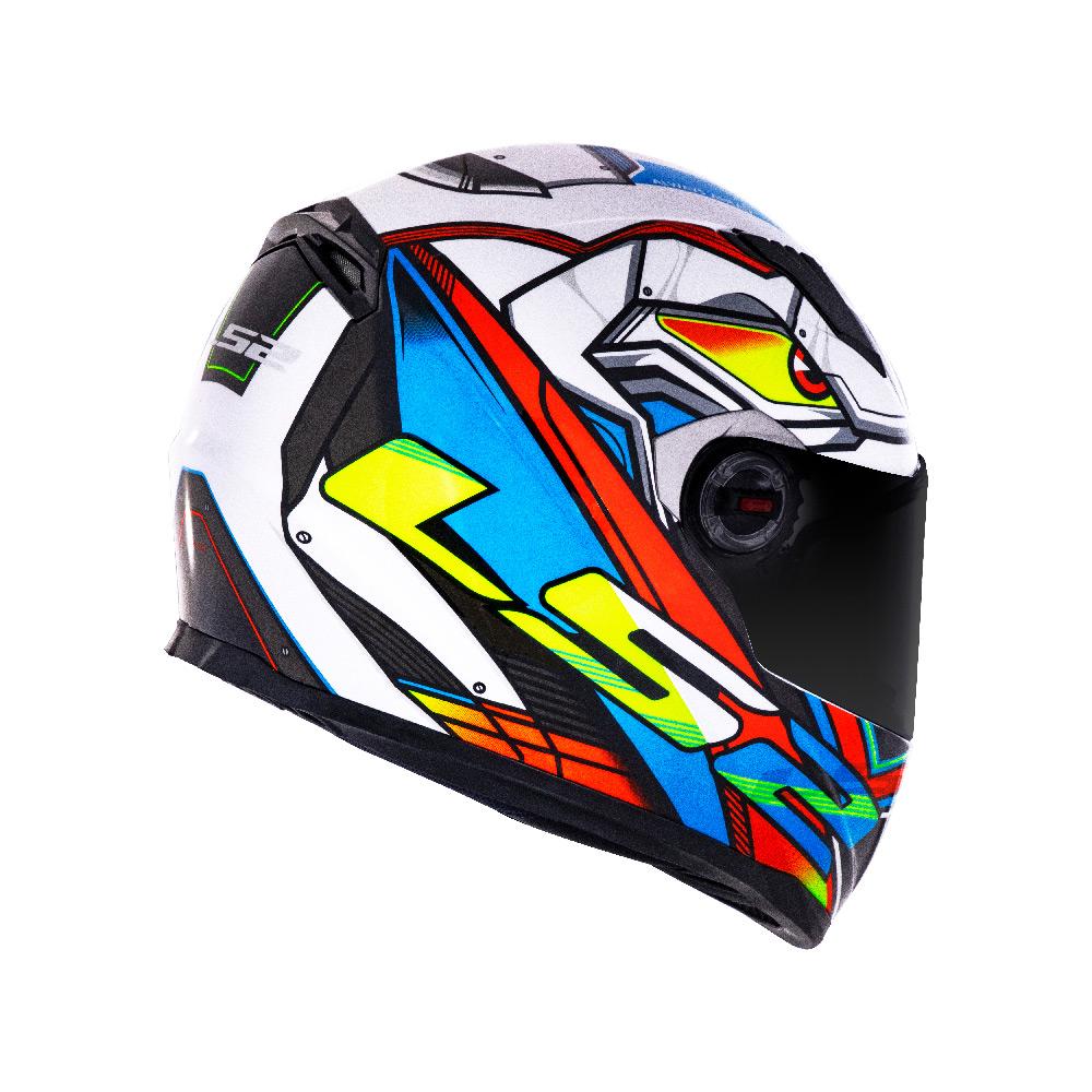Capacete LS2 FF358 Classic XDRON - Neon Laranja- LANÇAMENTO  - Nova Centro Boutique Roupas para Motociclistas