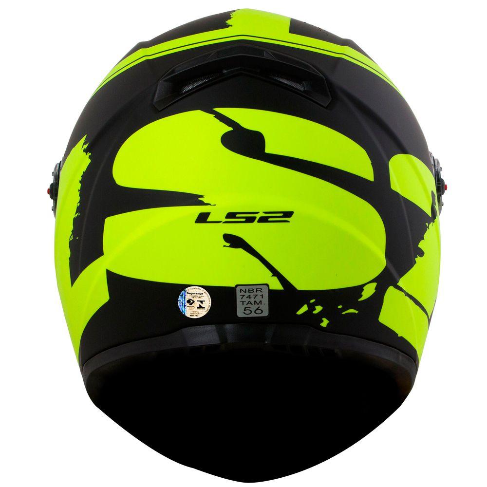 Capacete LS2 FF358 Fluo - Matt Black/HiVis/Yellow  - Nova Centro Boutique Roupas para Motociclistas