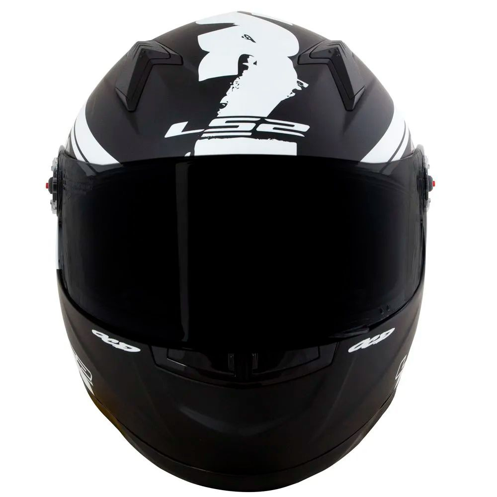 Capacete LS2 FF358 Fluo - Matt Black/White  - Nova Centro Boutique Roupas para Motociclistas