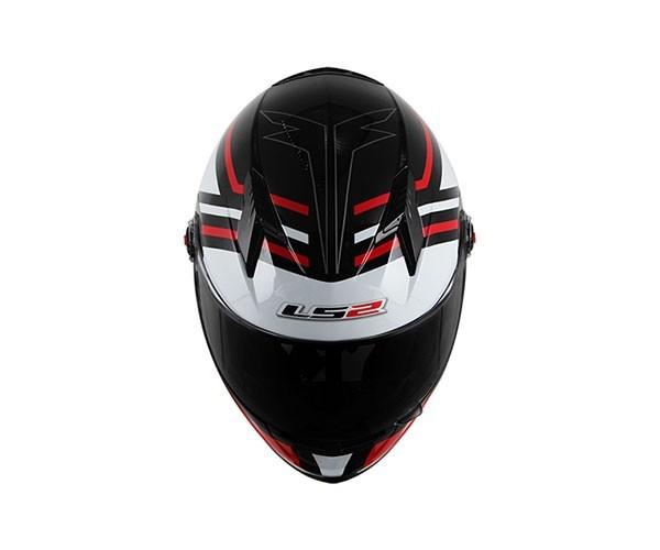 Capacete LS2 FF358 Mohican Vermelho   - Nova Centro Boutique Roupas para Motociclistas
