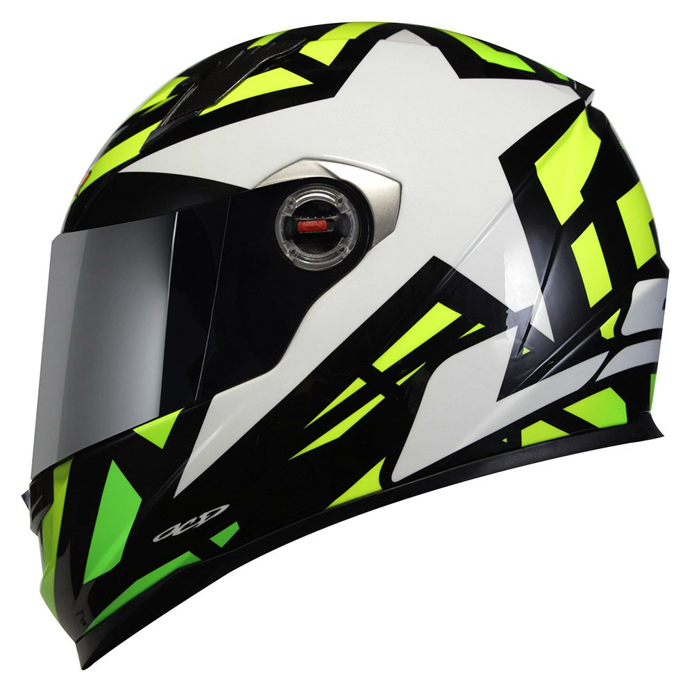Capacete LS2 FF358 - Starwar - Amarelo Fluo- LANÇAMENTO  - Nova Centro Boutique Roupas para Motociclistas