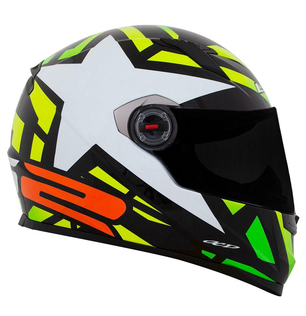 Capacete LS2 FF358 - Starwar - Amarelo Fluo- LANÇAMENTO ENTREGA PREVISTA PARA 29/04/2020  - Nova Centro Boutique Roupas para Motociclistas