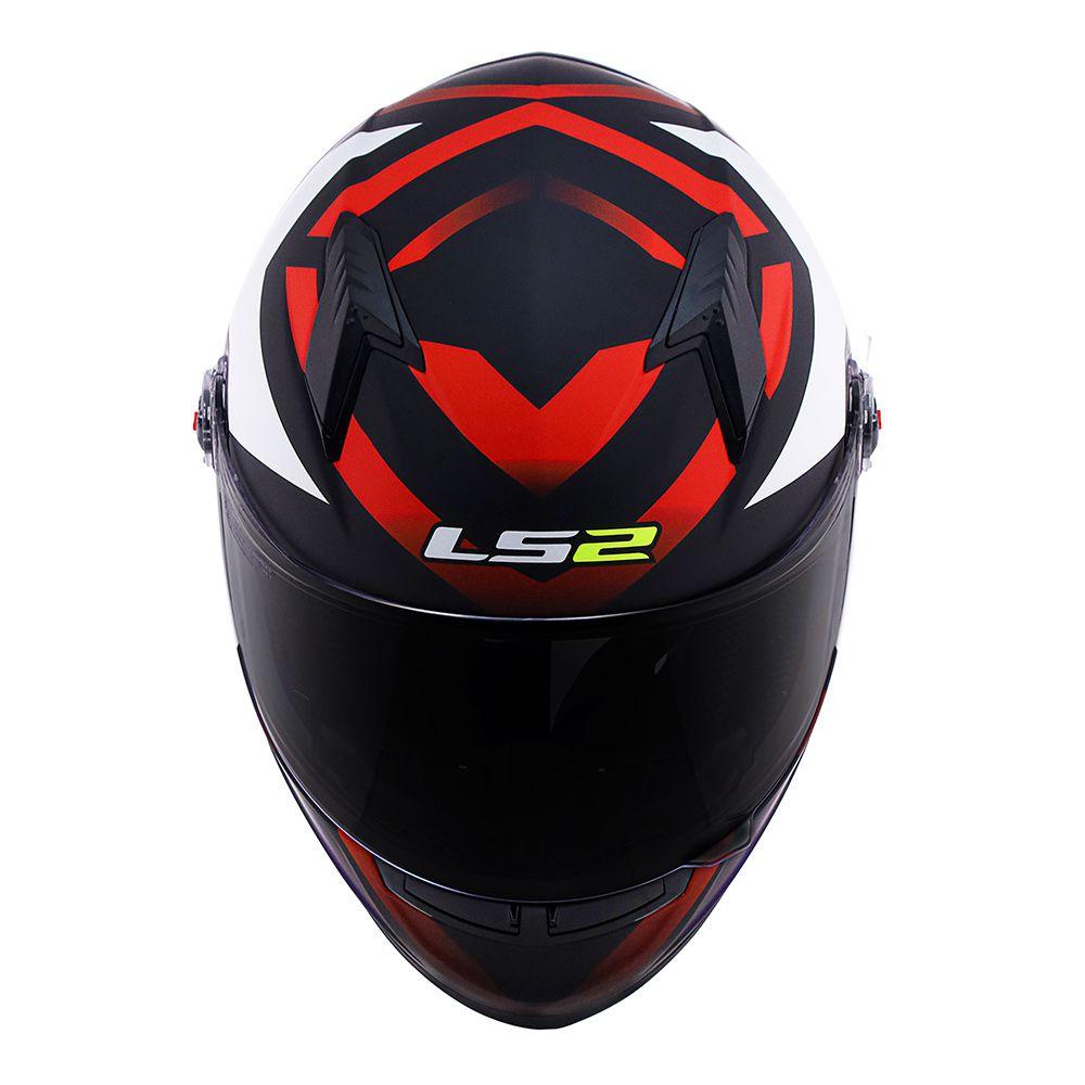 Capacete LS2 FF358 - Starwar - Vermelho Fluo - LANÇAMENTO  - Nova Centro Boutique Roupas para Motociclistas