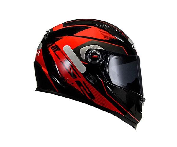 Capacete LS2 FF358 Stinger Preto/Vermelho  - Nova Centro Boutique Roupas para Motociclistas