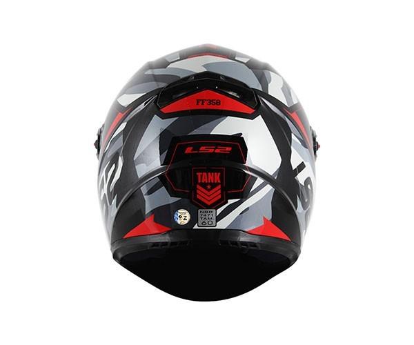 Capacete LS2 FF358 Tank Vermelho  - Nova Centro Boutique Roupas para Motociclistas