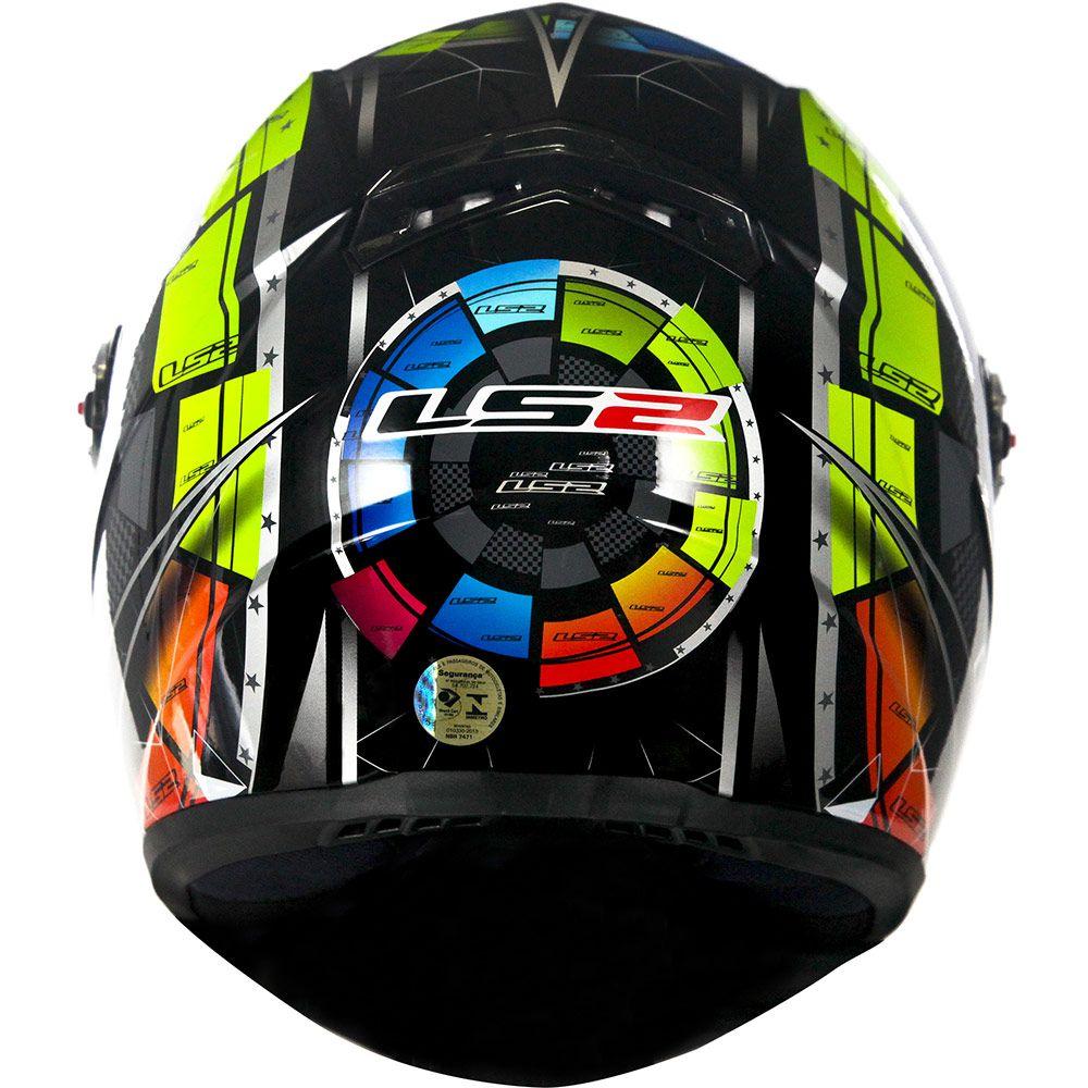 Capacete LS2 FF358 - Tech - Preto  - Nova Centro Boutique Roupas para Motociclistas