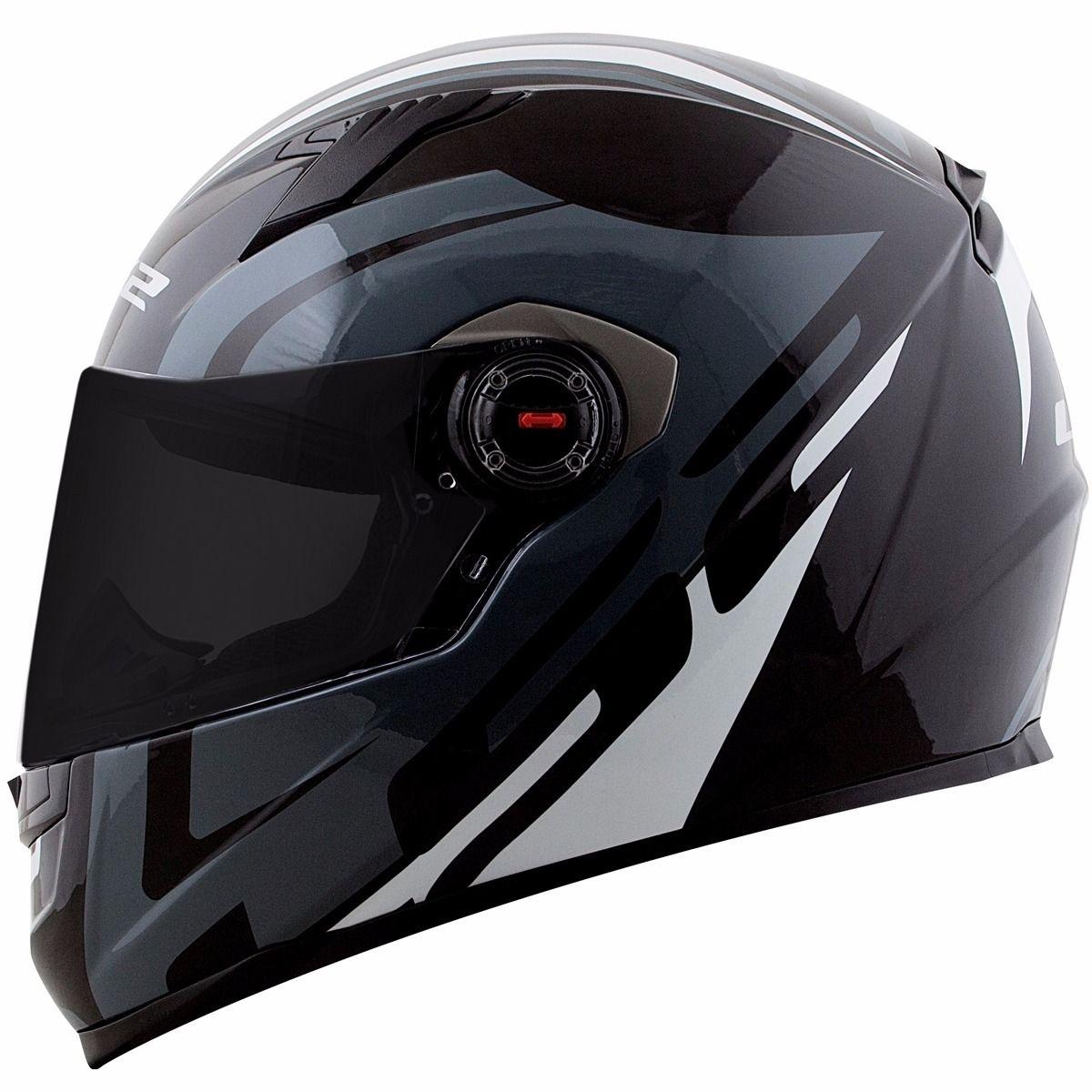 Capacete LS2 FF358 Touring  (Preto/Branco)  - Nova Centro Boutique Roupas para Motociclistas
