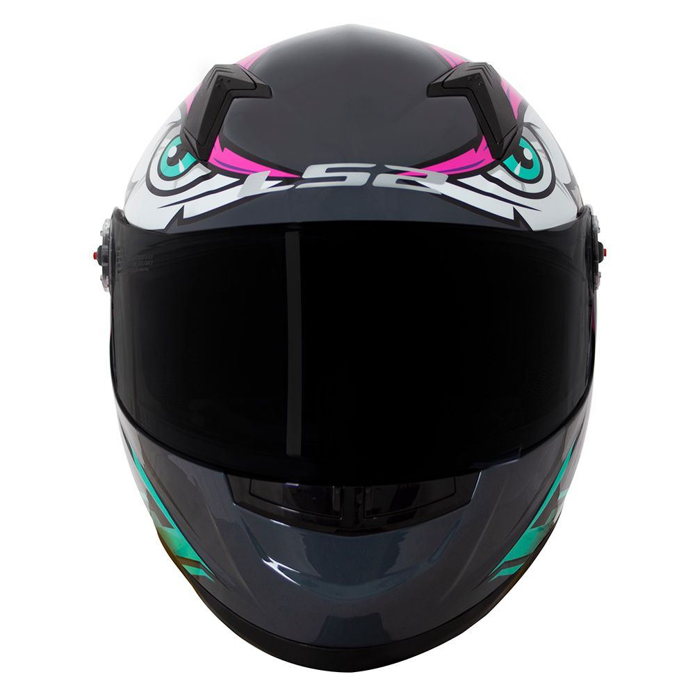 Capacete LS2 FF358 Tribal - Rosa/Verde ENTREGA PREVISTA PARA 29/04/2020  - Nova Centro Boutique Roupas para Motociclistas