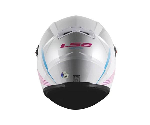 Capacete LS2 FF358 Tyrell Rosa Feminino  - Nova Centro Boutique Roupas para Motociclistas