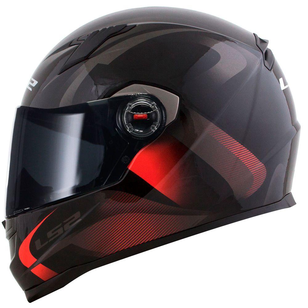 Capacete Ls2 FF358 Velvet Black/Red