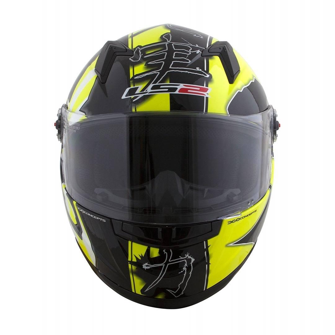 Capacete LS2 FF358 Warrior (Amarelo/Preto)  - Nova Centro Boutique Roupas para Motociclistas