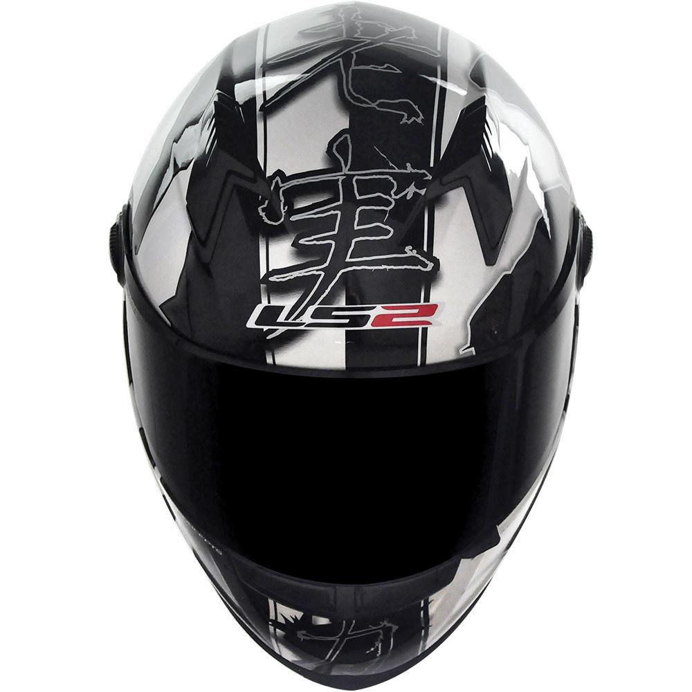 Capacete LS2 FF358 Warrior (Branco/Preto)  - Nova Centro Boutique Roupas para Motociclistas