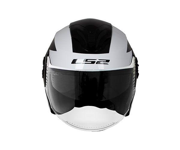 Capacete LS2 OF570 Verso Mobile Branco/Preto  - Nova Centro Boutique Roupas para Motociclistas