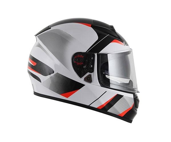 Capacete LS2 FF397 Vector Astro Branco/Preto/Vermelho  - Nova Centro Boutique Roupas para Motociclistas