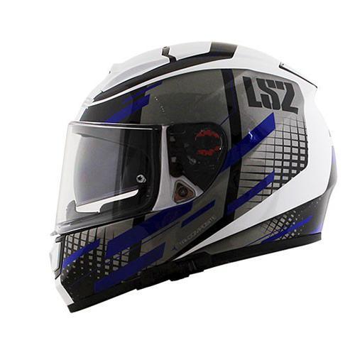 Capacete LS2 FF397 Vector Bit White Blue - LANÇAMENTO  - Nova Centro Boutique Roupas para Motociclistas