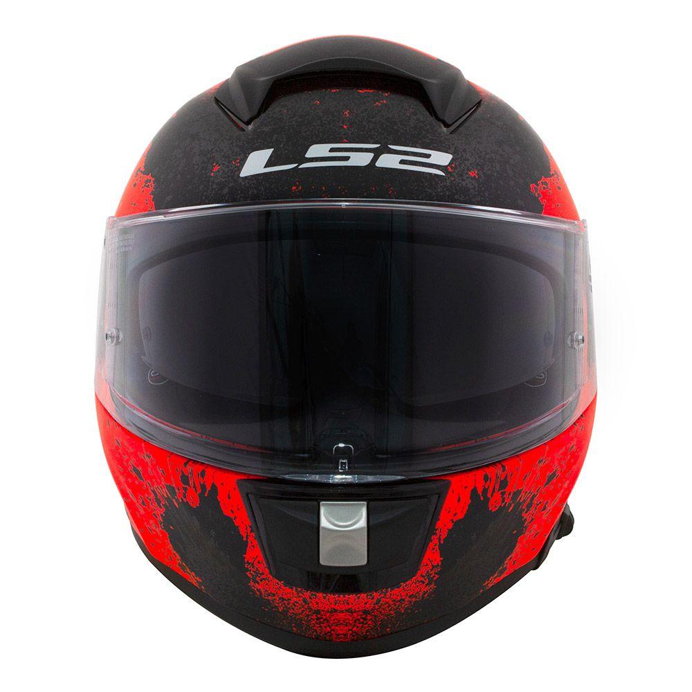 Capacete LS2 FF397 Vector Evo Squash Preto/Laranja  - Nova Centro Boutique Roupas para Motociclistas