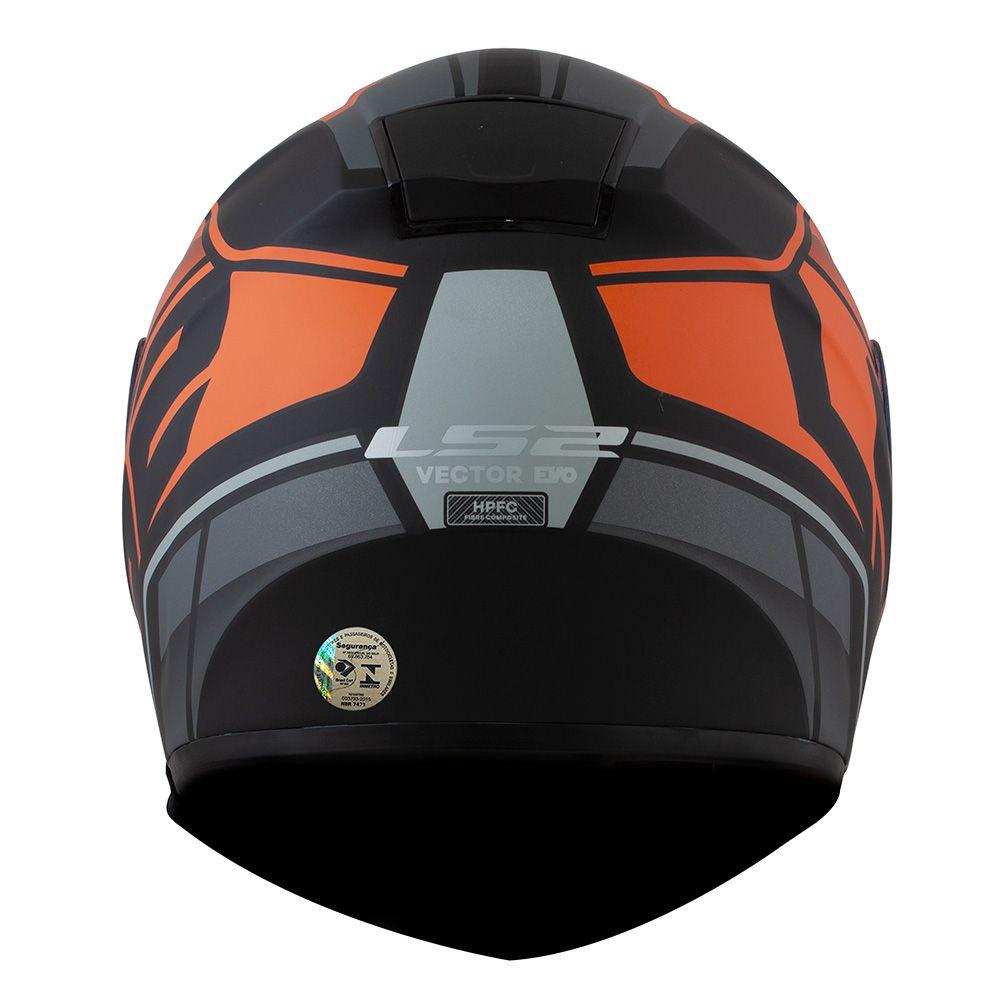 Capacete LS2 FF397 Vector KRIPTON Preto Fosco/Cinza/Laranja - LANÇAMENTO  - Nova Centro Boutique Roupas para Motociclistas