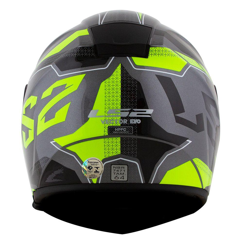 Capacete LS2 FF397 Vector ROADSTER Azul/Amarelo  - Nova Centro Boutique Roupas para Motociclistas