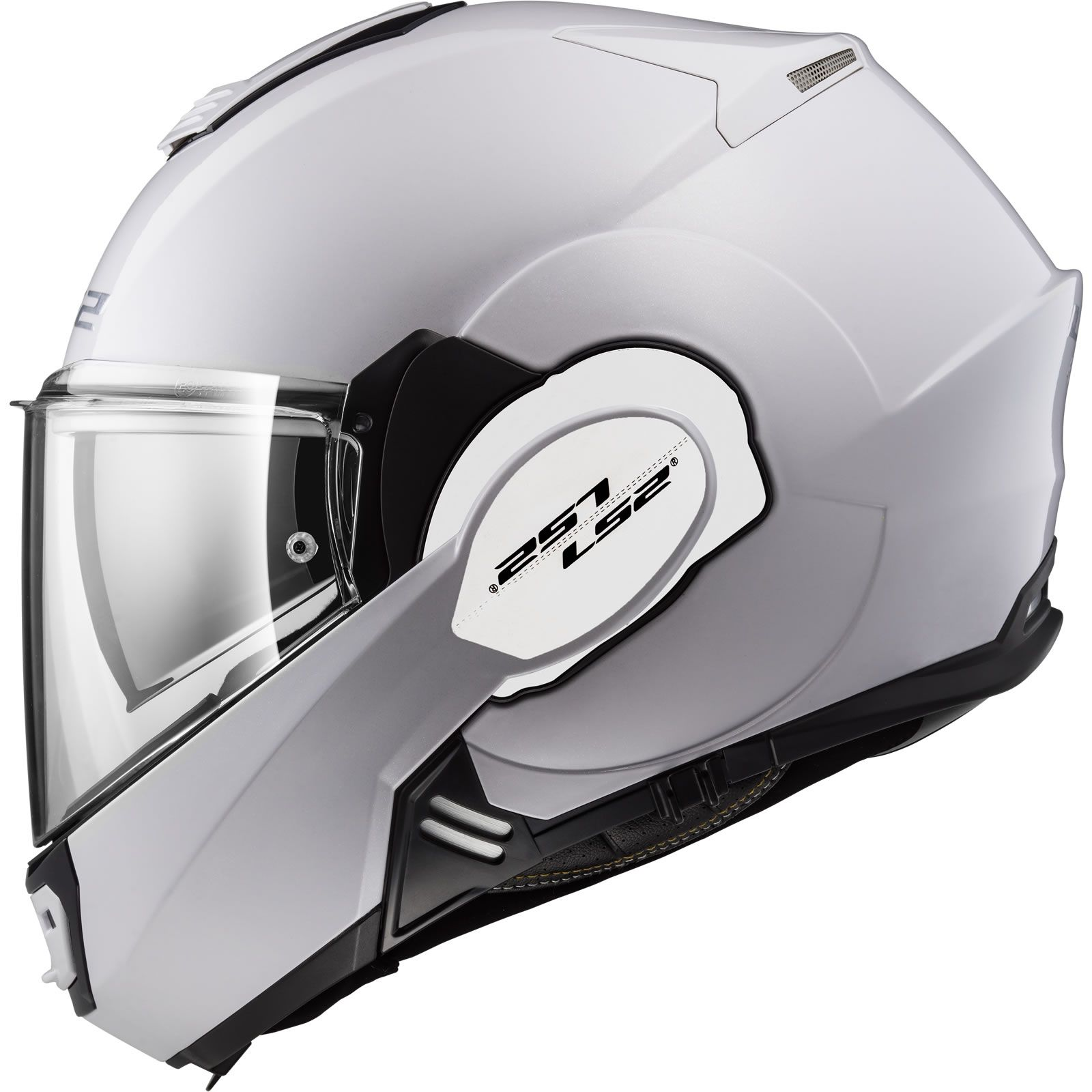 Capacete LS2 FF399 Valiant Branco C/ VISEIRA SOLAR Articulado  - Nova Centro Boutique Roupas para Motociclistas