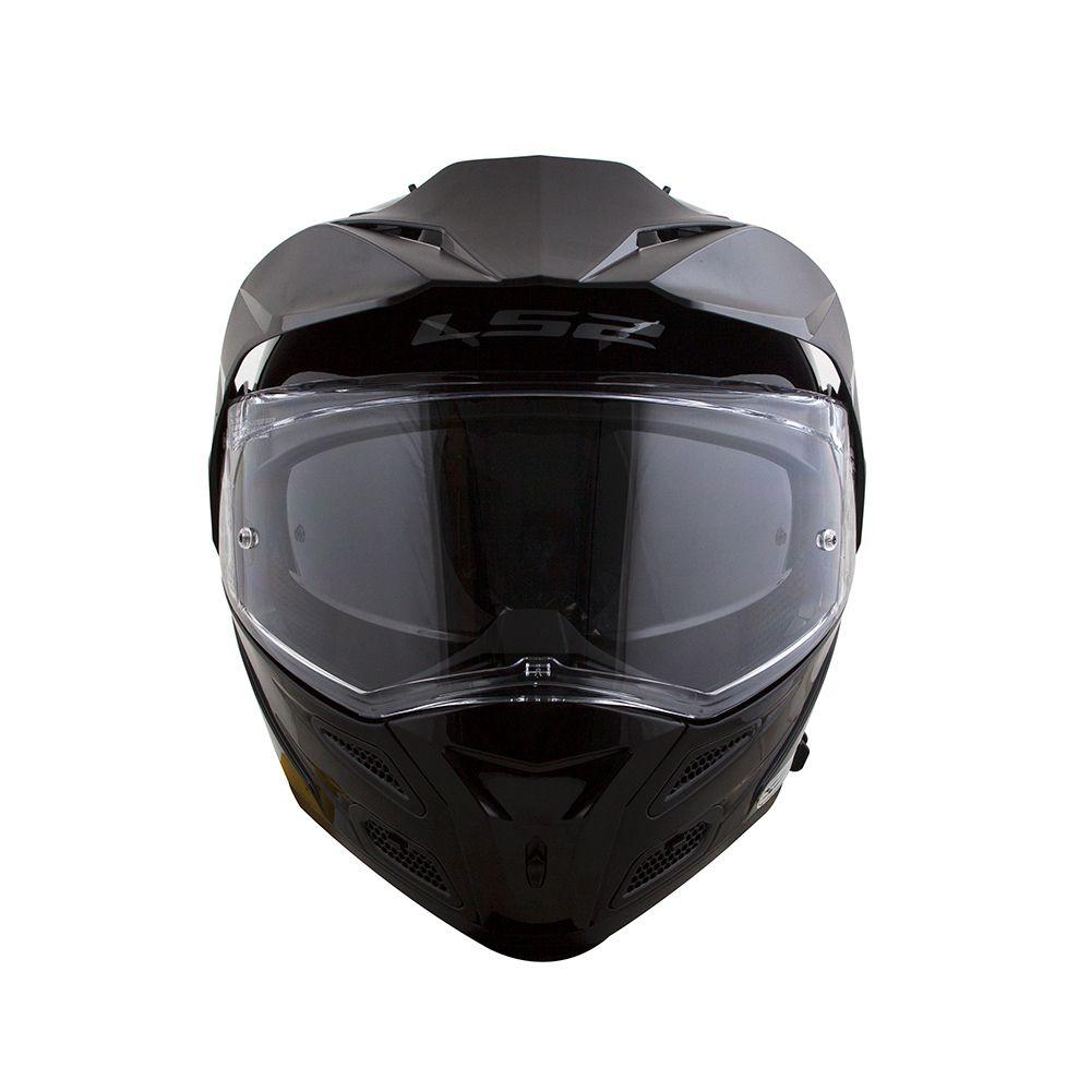 Capacete LS2  Metro FF324 Gloss Black  - Nova Centro Boutique Roupas para Motociclistas