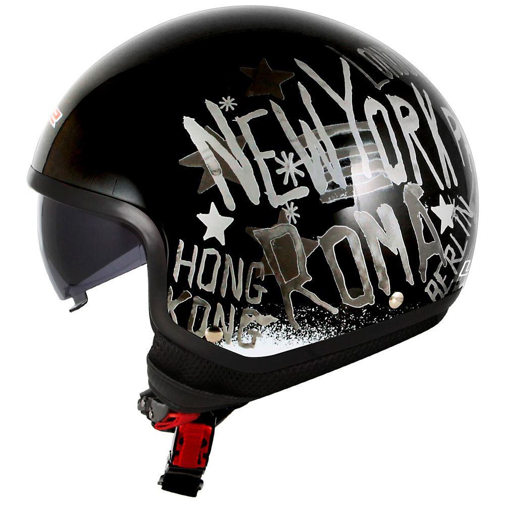 Capacete LS2 OF561 Wave City - Black  - Nova Centro Boutique Roupas para Motociclistas