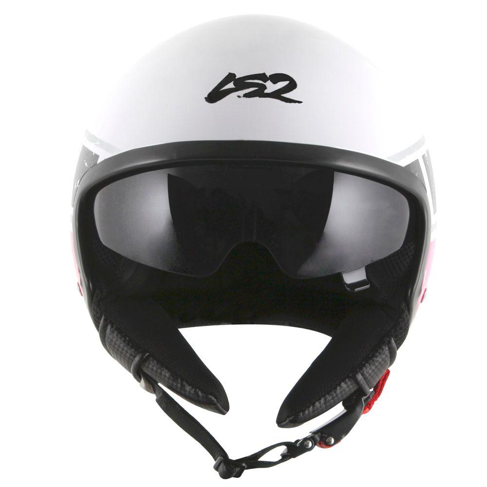 Capacete LS2 OF561 Wave Rook White/Pink  - Nova Centro Boutique Roupas para Motociclistas