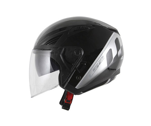Capacete LS2 OF586 Bishop Atom Preto