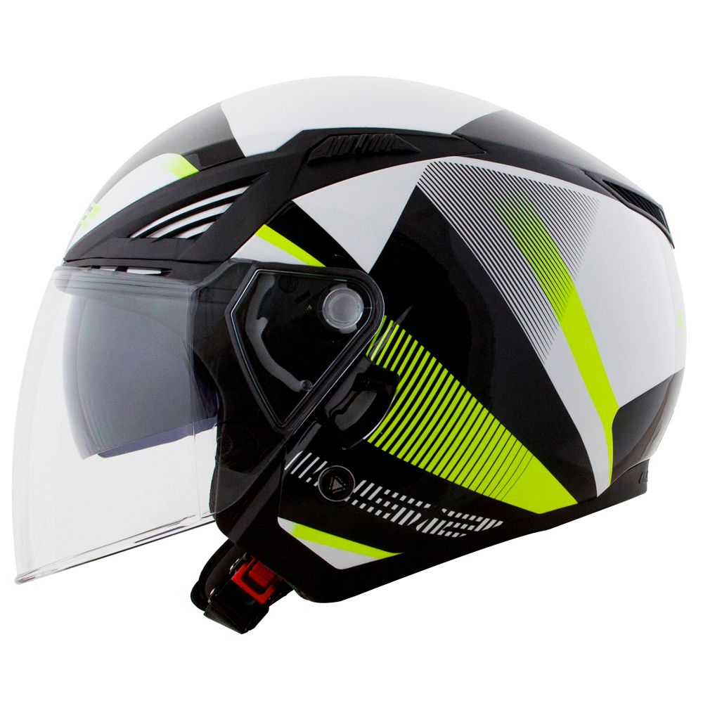 CAPACETE LS2 OF586 BISHOP TYRELL - BLACK/YELLOW